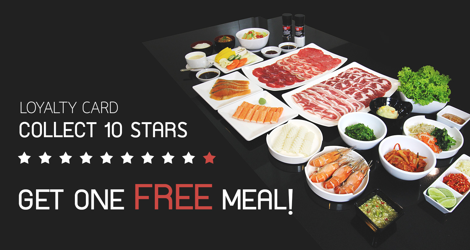 Collect 10 stars and Get one Free meal!